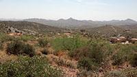 Desert overlooking Cave Creek AZ in August 2013. Photo by Tony Pomykala